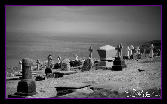 Clifftop Graveyard: Photograph by Steve Milner